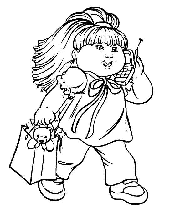 Mejores 12 imágenes de Cabbage Patch Kids Coloring Pages en ...