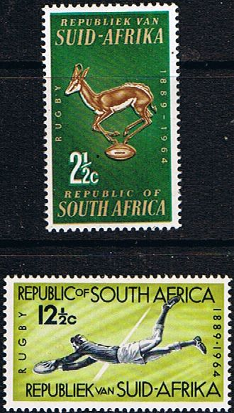 South Africa 1964 SG Rugby Board Set Fine Mint SG 252 3 Scott 301 2 Condition Fine MNH Only one post charge applied on
