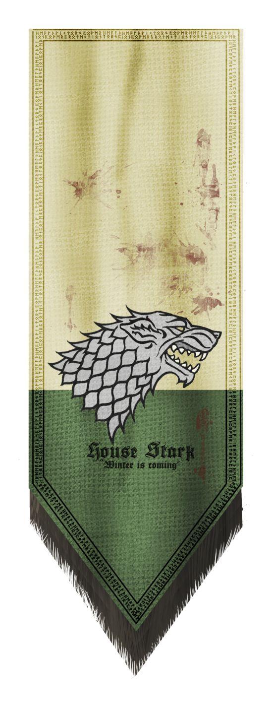 House stark Banner by Andy-Butnariu.deviantart.com on @DeviantArt