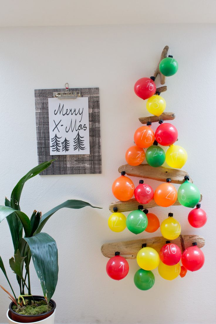 Balloon Advent Calendar. | LOOK WHAT I MADE ...LOOK WHAT I MADE …