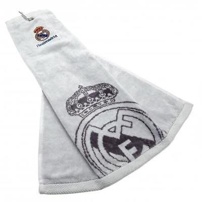 #Official licensed football #product real madrid tri-fold golf #towel crest gift,  View more on the LINK: http://www.zeppy.io/product/gb/2/201611013376/