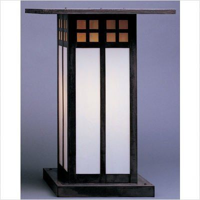 "Arroyo Craftsman GC Glasgow Outdoor Column Mount Lantern by Arroyo Craftsman. $268.00. Arroyo Craftsman GC Features: -Glasgow collection. -Available in several finishes. -Available in several shade colors. -UL listed. -Suitable in wet location. Specifications: -Accommodates: 1 x 100W / 150W A-19 incandescent bulb. -Available sizes:. -9.75"" Overall dimensions: 9.75"" H x 9"" W. -Mounting base: 6.5"". -12.75"" Overall dimensions: 12.75"" H x 9"" W. -Mounting base: 6.5..."