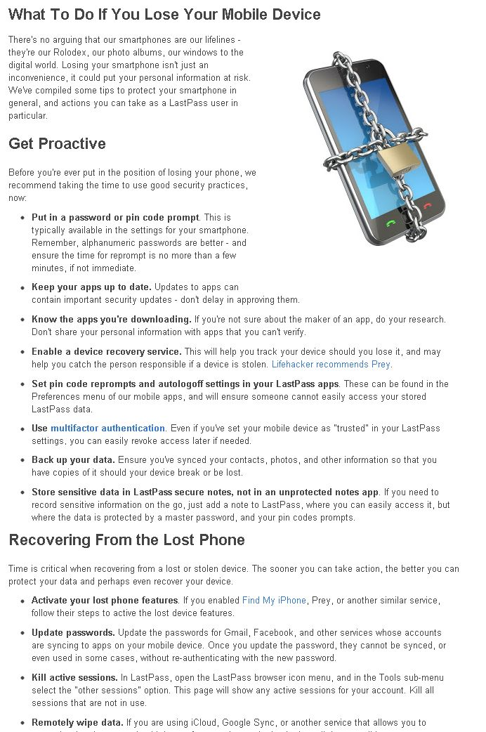 What to Do If You Lose Your Mobile Device