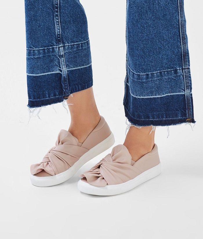 Nude trainers Topshop