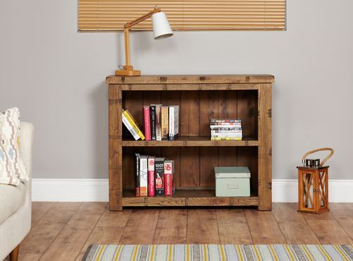 Rough Sawn Oak Low Bookcase  #wood #oak #furniture #sideboard #bookcase #table #storage #books #home #interior #decor #livingroom #lounge #bedroom