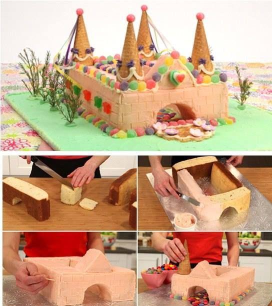 Fantasy Castle Birthday Cake.