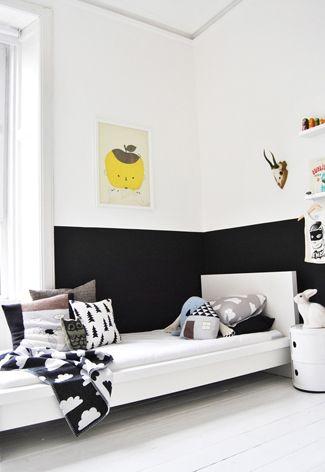 Leuke idee n voor een puberkamer op tienerkamer kinderkamer kids - Zwart meisjes kamer en witte ...