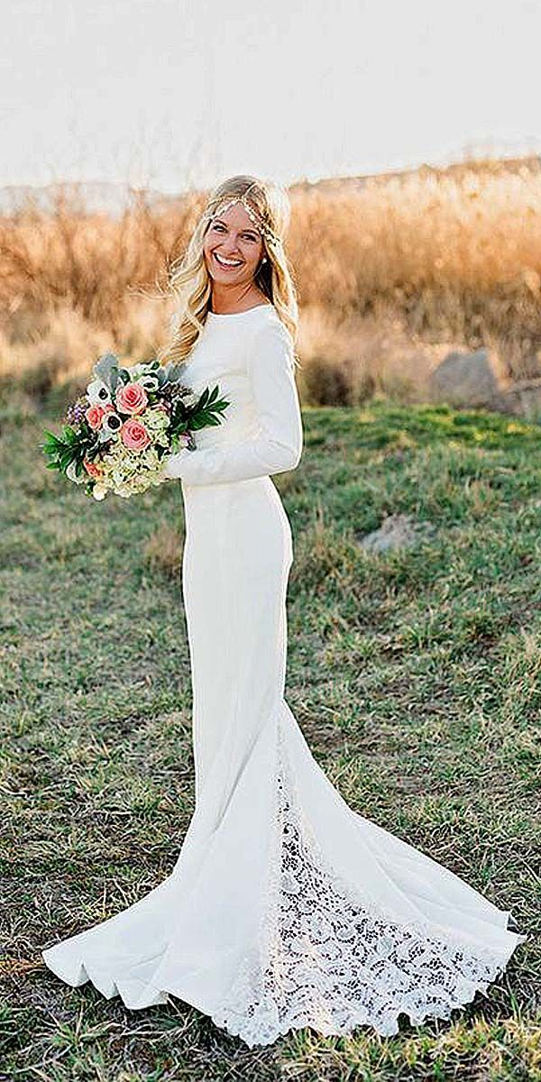 24 Chic Long Sleeved Wedding Dresses ❤ See more: http://www.weddingforward.com/long-sleeved-wedding-dresses/ #weddings #dress
