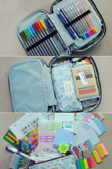 Travel planner supplies, on the go kit