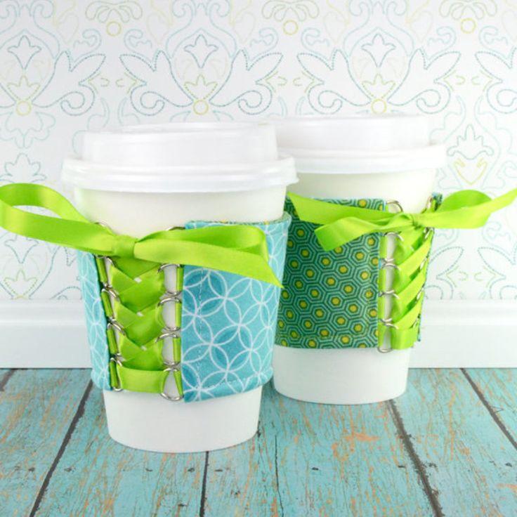 Venn Diagrams and Polygons Cup Cozy #handmade by Chelsey -- http://etsy.me/2FBeJPz  #etsy #CozyCorsetCuff #DrinkUp #CupCozies #CupSleeves #DrinkSleeve #EcoFriendly #VennDiagrams #Polygons #MadeInMinnesota #ShopHandmade #ShopLocal #Minnesota