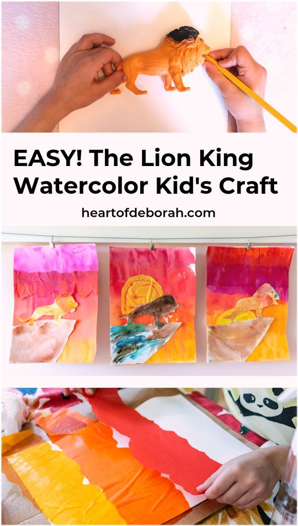 Adorable The Lion King Kids Craft Tissue Paper Watercolor