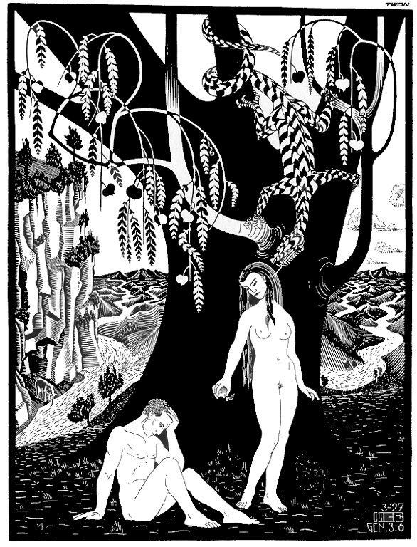 The Fall of Man by  M.C. Escher