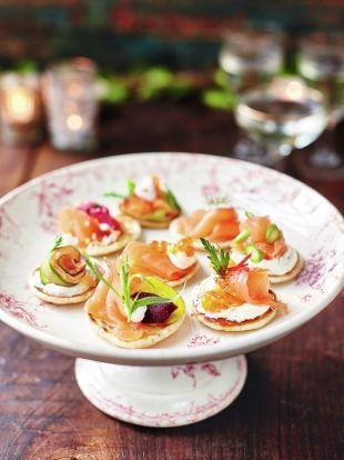 Smoked salmon blinis | Salmon recipes | Jamie Oliver recipes