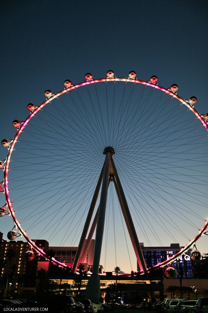 Biggest Ferris Wheel in the World. You will get an epic view from the high Roller in Las Vegas, NV