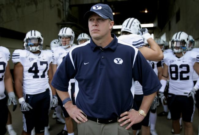 coach bronco mendenhall and the byu cougars