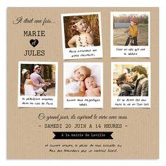 Faire-Part Mariage notre histoire disponible ici >> http://www.carteland.com/mariage/faire-part-mariage/faire-part-mariage-chic-pochette/faire-part-mariage-carre/notre-histoire-3704.html