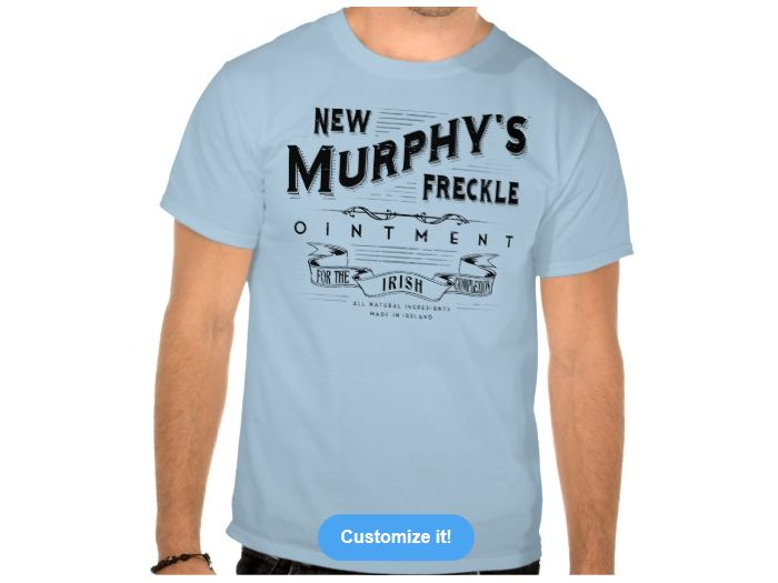 Murphys Freckle Ointment, Style is Basic Dark T-Shirt , color is Light Blue