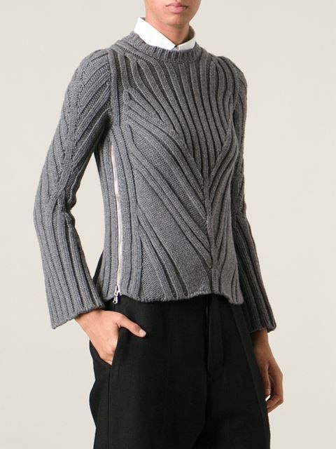 Alexander Mcqueen Thick Ribbed Sweater - Smets - Farfetch.com  --For me, plainer at the bottom