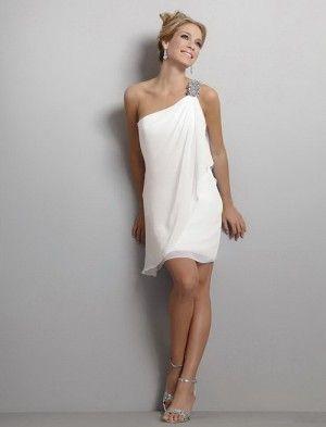 короткое белое греческое платье