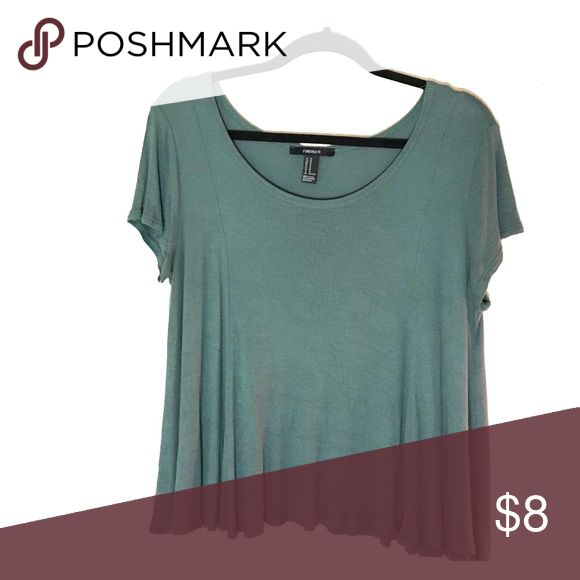 Turquoise Shirt A plain turquoise shirt that flows. Loose and very comfortable. Forever 21 Tops Blouses