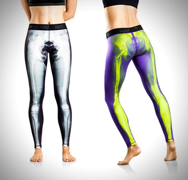 These are legit. Nike Pro Combat skeleton print leggings