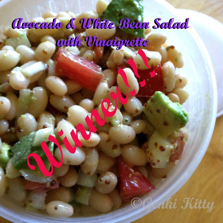 Avocado & White Bean Salad with Vinaigrette Vegan Recipe