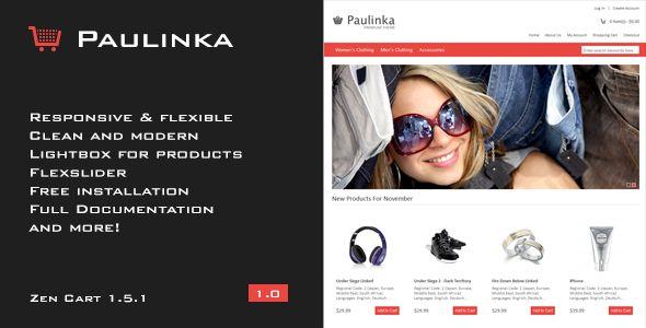 Paulinka - #ZenCart #Responsive Theme - Coding: #html5 #css3 via @medosadvert