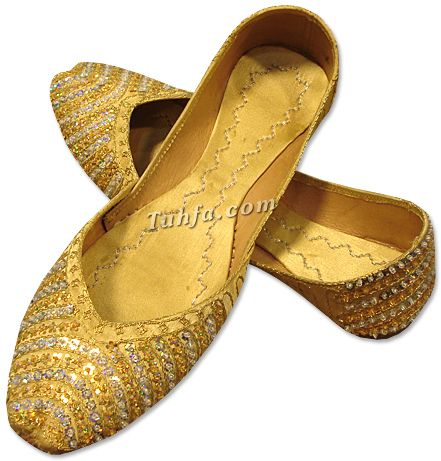 gold hand-made khussa shoes