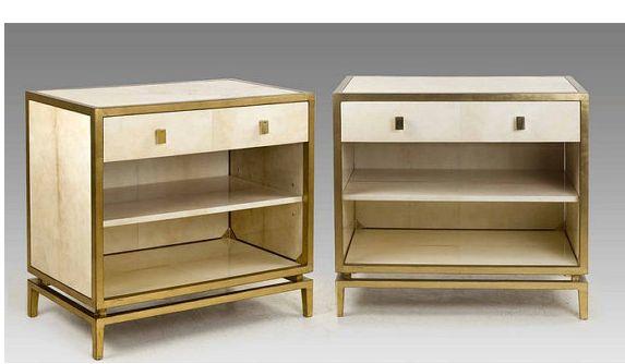 Vintage parchment chest set