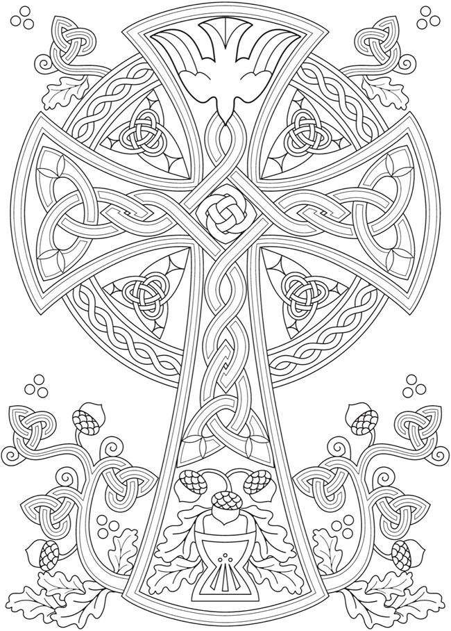 Welcome To Dover Publications Cross Coloring Page Celtic