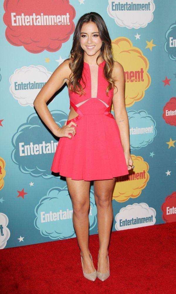 Chloe Bennet. She's gorgeous, Ilove her pretty dress. Sal P.