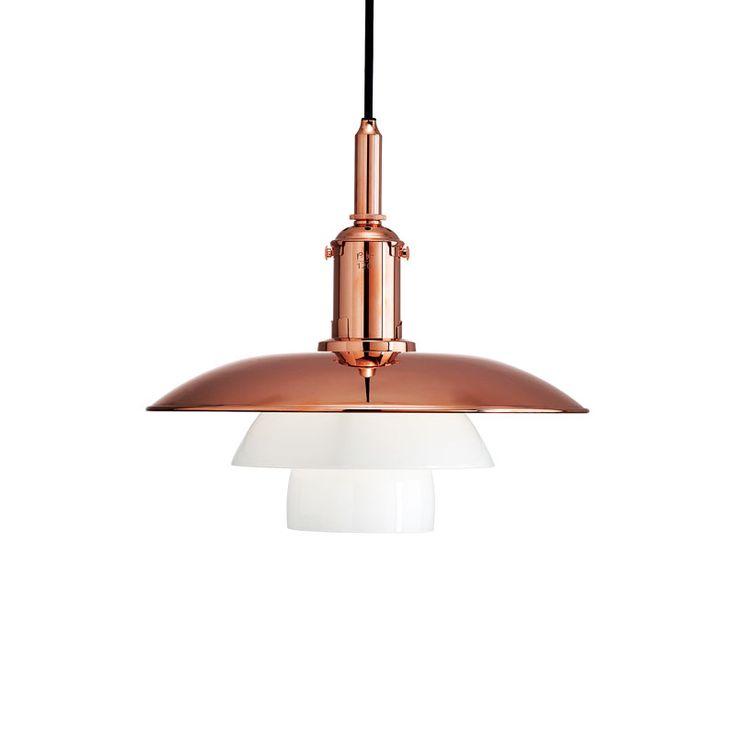 PH 3?-3 Pendant, Copper - Poul Henningsen - Louis Poulsen - RoyalDesign.com