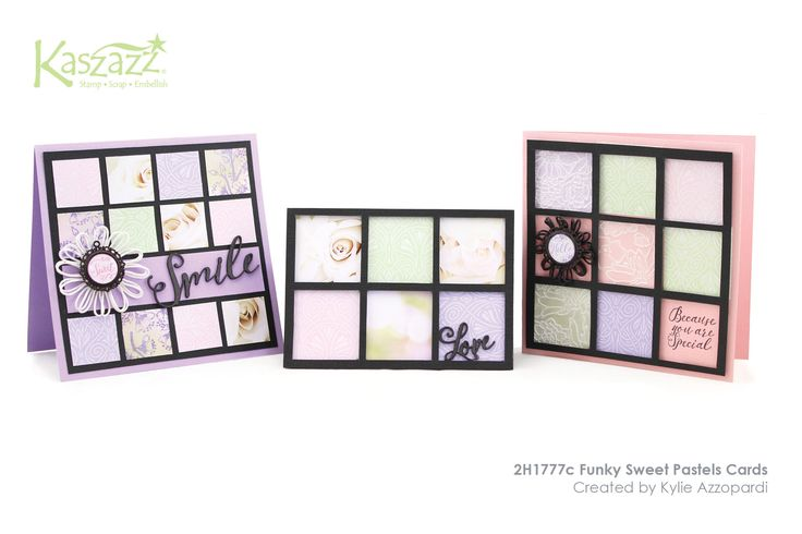2H1777c Funky Sweet Pastels Cards
