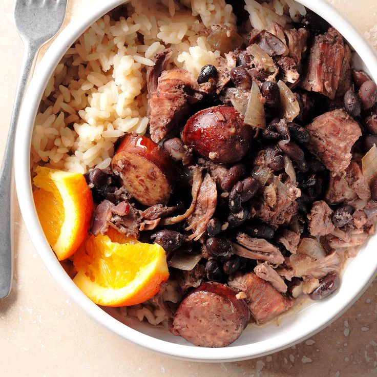 My Brazilian Feijoada Recipe -A co-worker's mom used to make this dish for him and it was his favorite. So I made him my own version. Instead of sausage you can use ham hocks, or substitute the red meat with lean white meat if you prefer. —Christiane Counts, Webster, Texas