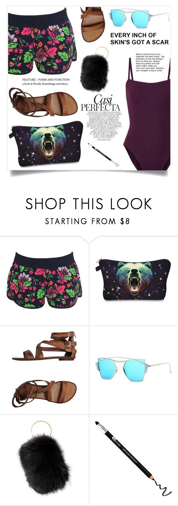 """""""We're all mad here"""" by violet-peach ❤ liked on Polyvore featuring Fabrizio Chini, Sang A, Glo Minerals, Eres and Whiteley"""