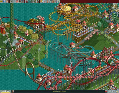 Image result for roller coaster tycoon loopy landscapes