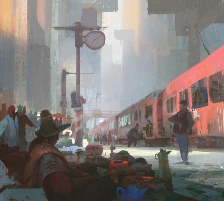 Red Train by artbytheo.deviantart.com on @deviantART