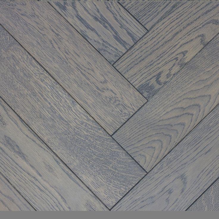 Engineered, Oak, Herringbone, Cloudy Grey, Matt Lacquered