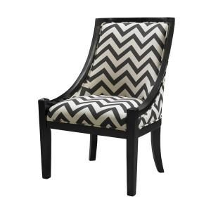 Linon Home Decor CARNEGIE CHAIR - BLACK