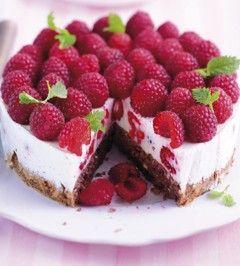 LOGI Rezepte: Leichte Himbeer-Joghurt-Torte mit einer niedrigen Kohlenhydratdichte schmeckt super und ist gut für die Figur ...