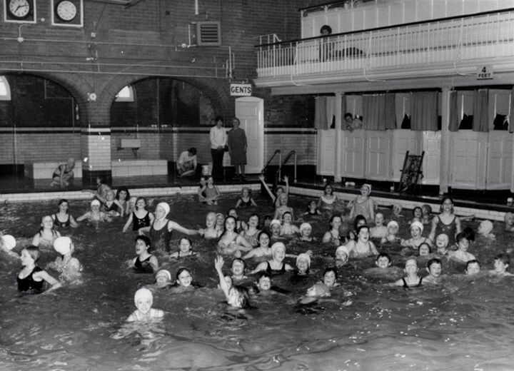 Miss bonham in the back of the pic the old swimming baths kettering kettering town of my Kettering swimming pool timetable