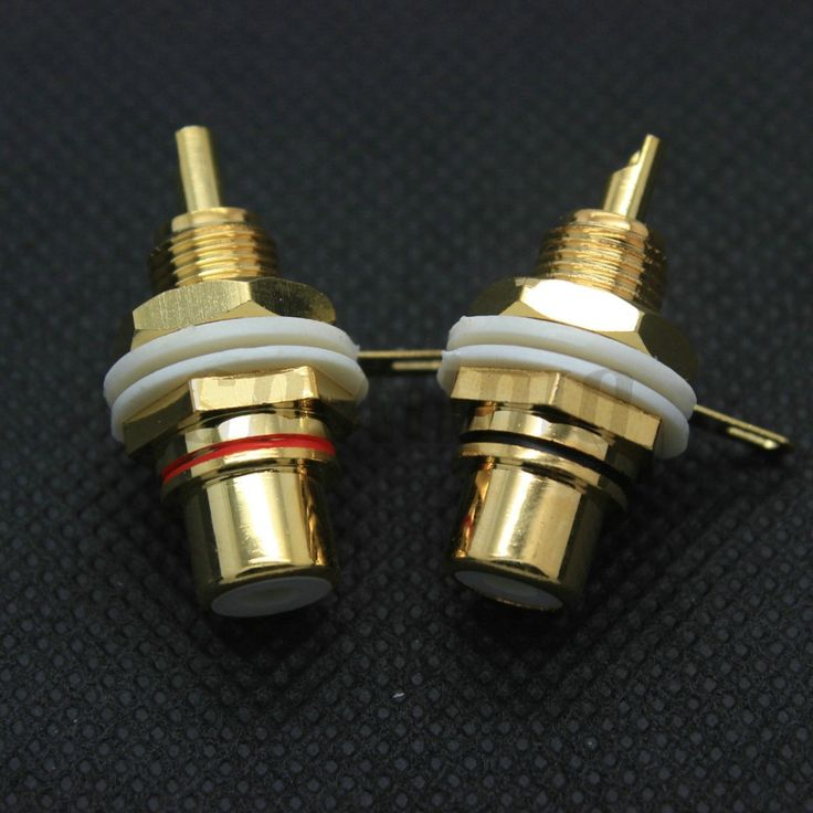 GD-PARTS Brass Female RCA Jack Socket Connector for Amplifier TV DAC HIFI Audio DIY 24K Gold Plated Panel Mount Bulk 10PCS 50PCS #Affiliate