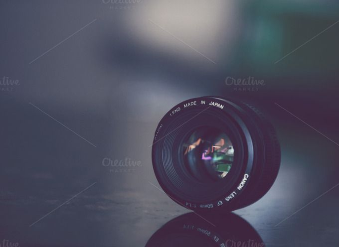 Check out 50mm Canon Lens by ZedProMedia on Creative Market http://crtv.mk/qUCr