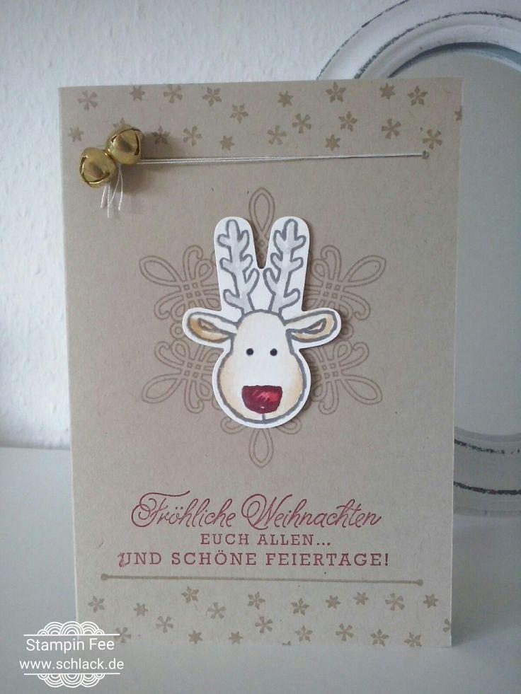 stampin Christmas Cookie cutter Christmas reindeer ausgestochen weihnachtlich rentier Rudolph