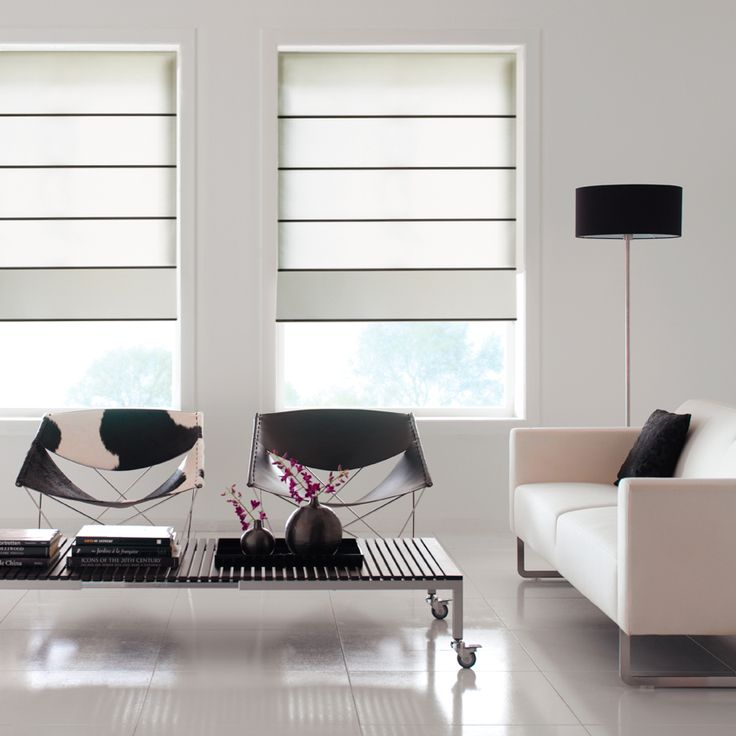 Roman Shades - Inika - Roman blinds with a contemporary look and feel.