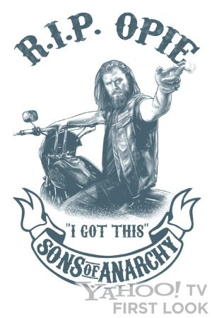 Comic-Con Exclusive: Check Out the Free 'Sons of Anarchy' R.I.P. Opie Tattoo #temporarytattoos