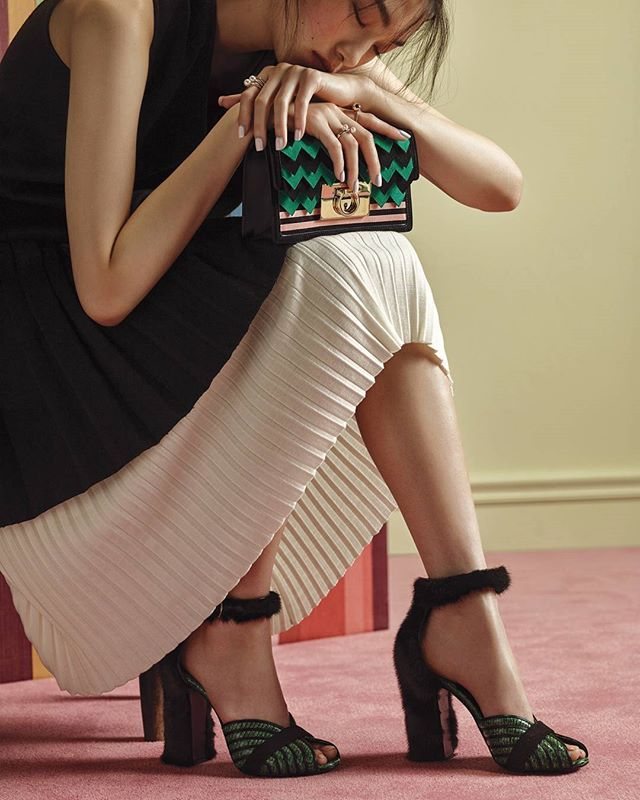 A New Perspective: Presenting the season's key accessories: the #FerragamoGancio clutch with cut-out leather detailing and embroidered pump with plush ankle strap and heel. #FerragamoFW16 @marieclairekorea  Discover more of the new season by clicking the link in bio.