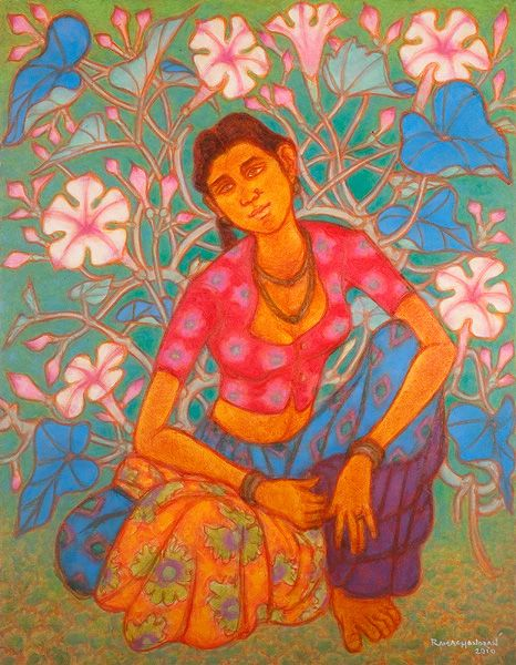 The 109 best images about indian art work on pinterest for Asha ramachandran mural painting
