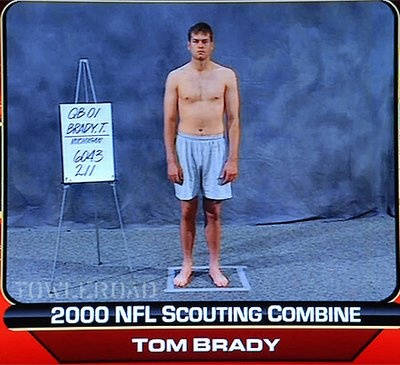 Tom Brady's 2000 NFL Scouting Combine Photo.