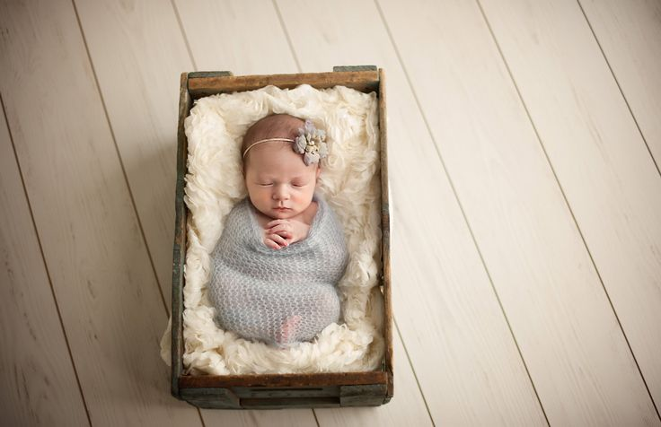Newborn Photos In Crate